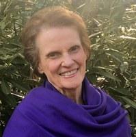 Susan purple shawl close up