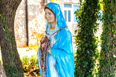 Statue of Mary in Medjugorje